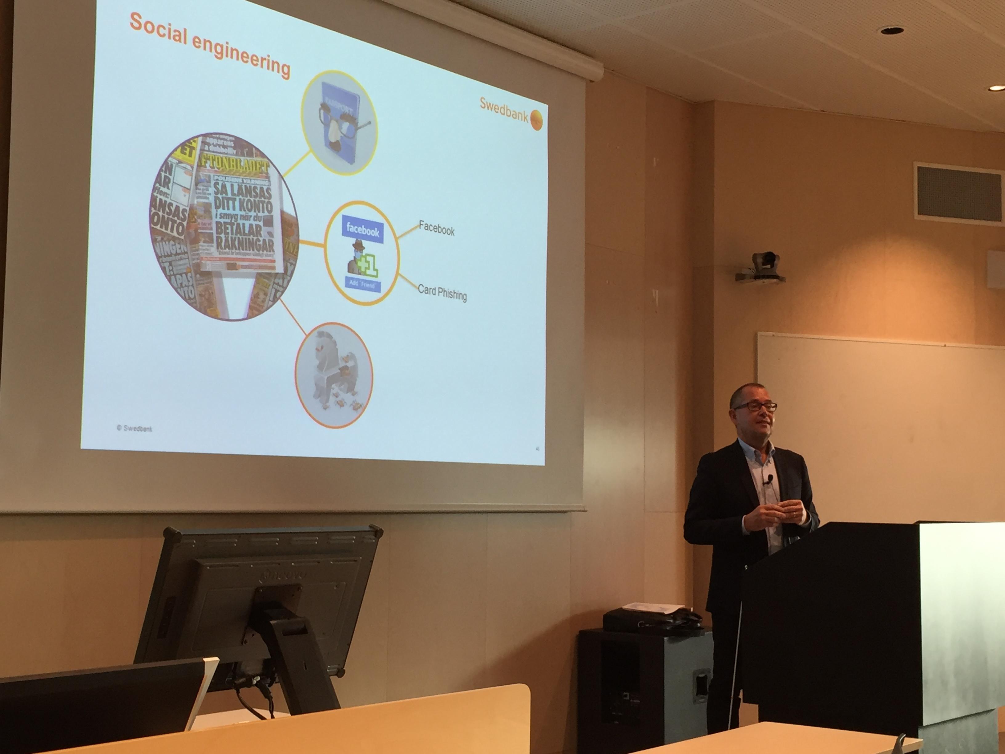 Tomas Keisu, CISO Swedbank Group Guest Lecture
